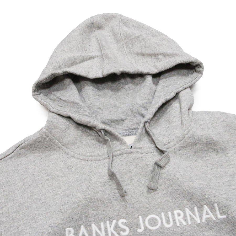 BANKS バンクス メンズ レディース ユニセックス パーカー プルオーバー LABEL FLEECE ブラック 黒 グレー ブルー レッド イエロー グリーン