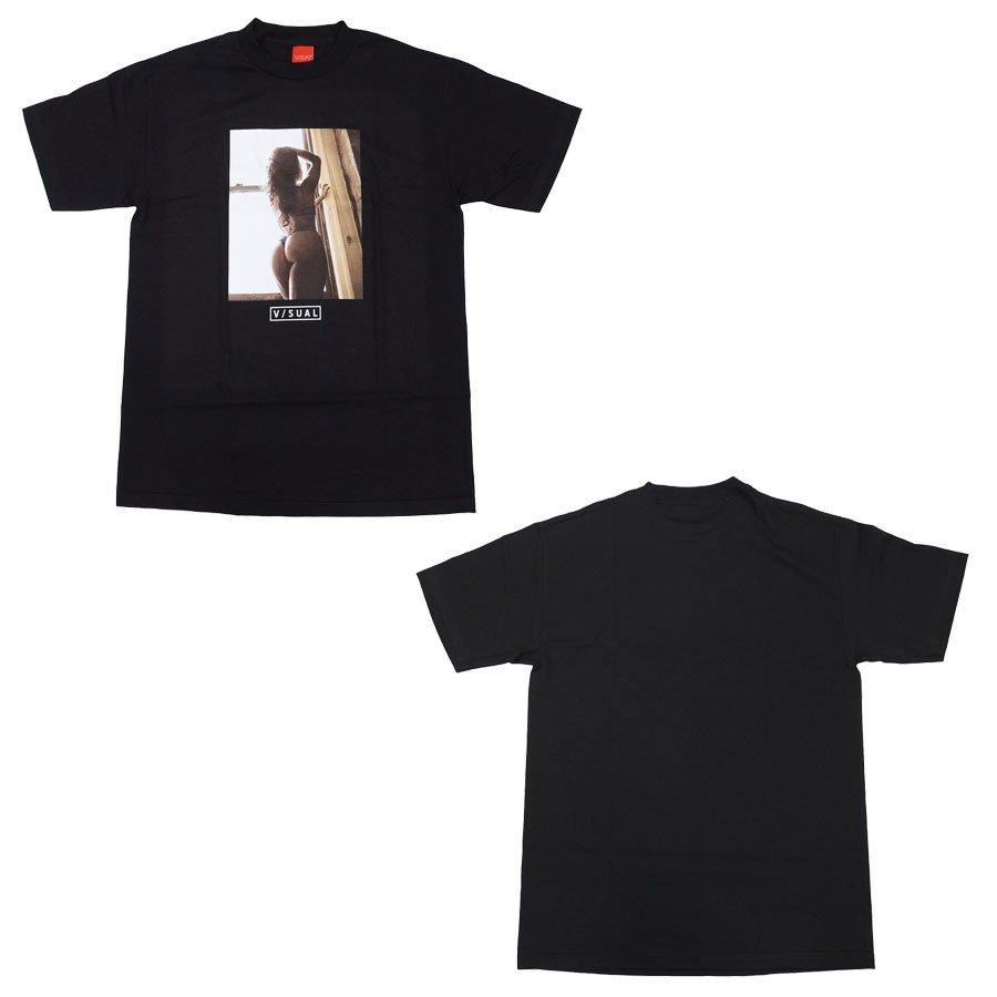 V/SUAL ヴィジュアル ビジュアル BEYOND TEE 2色 半袖Tシャツ カットソー 黒 ブラック 白 ホワイト