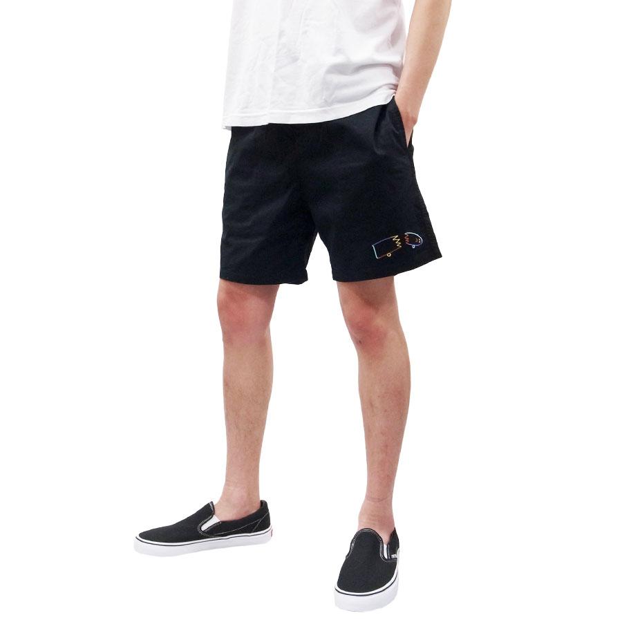 BRIXTON ブリクストン チノショーツ ショート パンツ STEADY ELASTIC WB SHORT ブラック 黒 コラボ