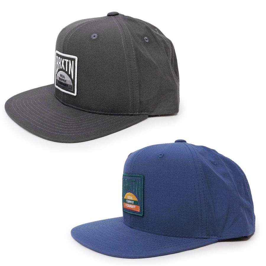 BRIXTON ブリクストン キャップ 帽子 PIVOT CROSSOVER MP SNAPBACK 2色 グレー ブルー