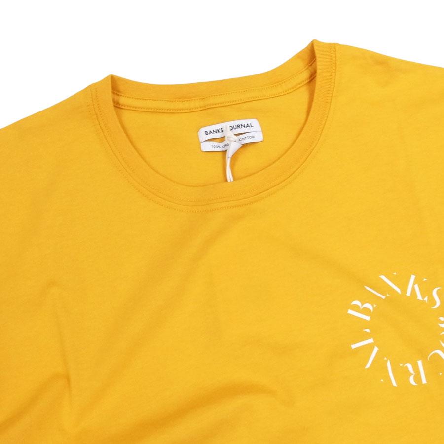 BANKS バンクス メンズ レディース ユニセックス 半袖Tシャツ カットソー オーガニックコットン SPHERE TEE イエロー 黄色 ホワイト 白
