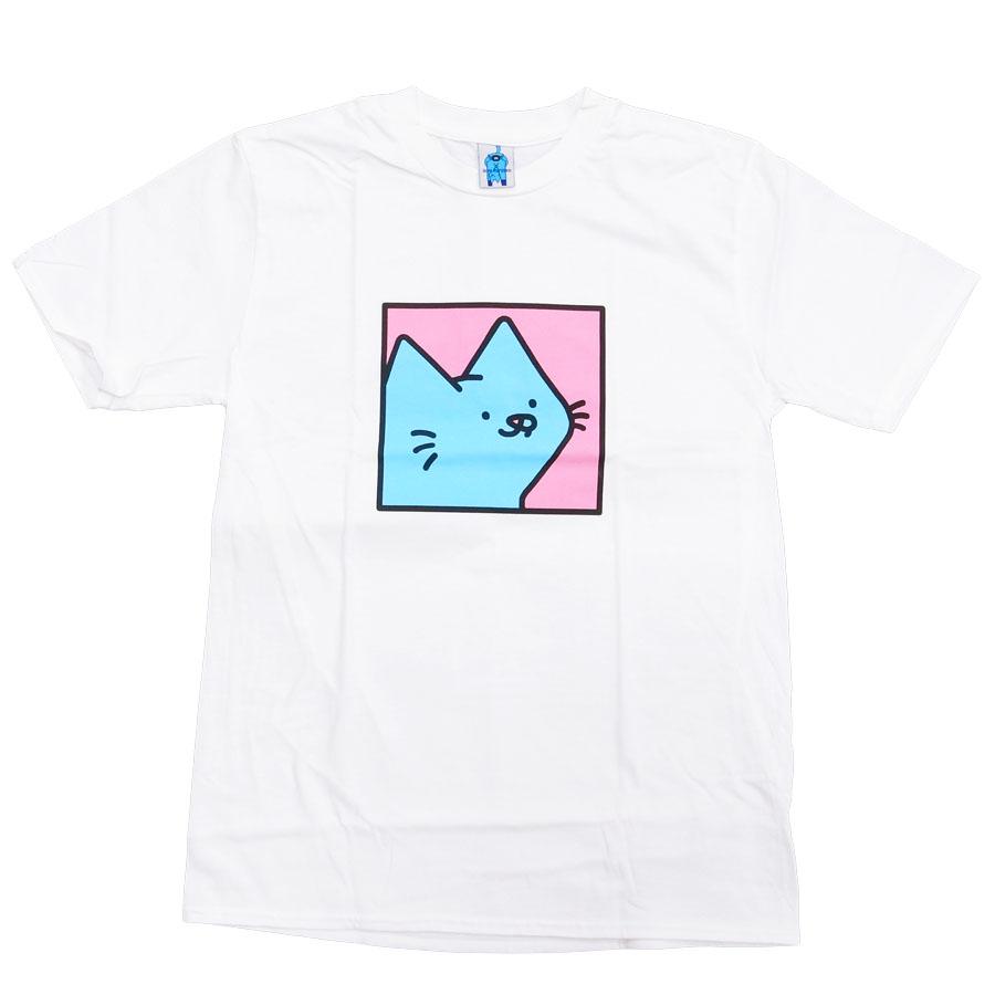 LEON レオン KARSSEN BOX CAT TEE 半袖Tシャツ カットソー メンズ レディース ユニセックス ネコ 猫 白 ホワイト