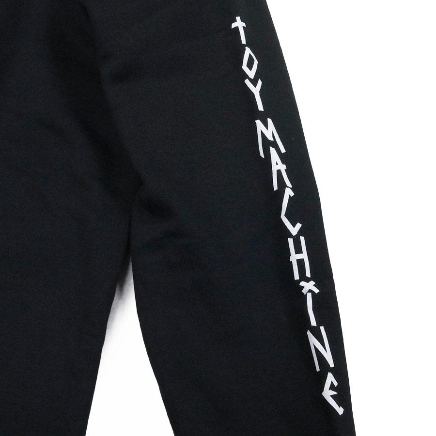 TOY MACHINE トイマシーン メンズ レディース ユニセックス TAPE LOGO SWEAT 3色 パーカー 黒 ブラック ホワイト 白 パープル