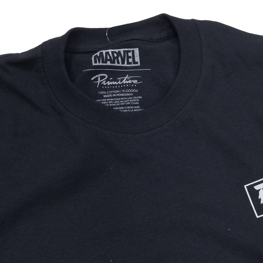 PRIMITIVE プリミティブ ベノム MARVEL マーベルコミック PJ VENOM L/S TEE 長袖Tシャツ カットソー 黒 ブラック