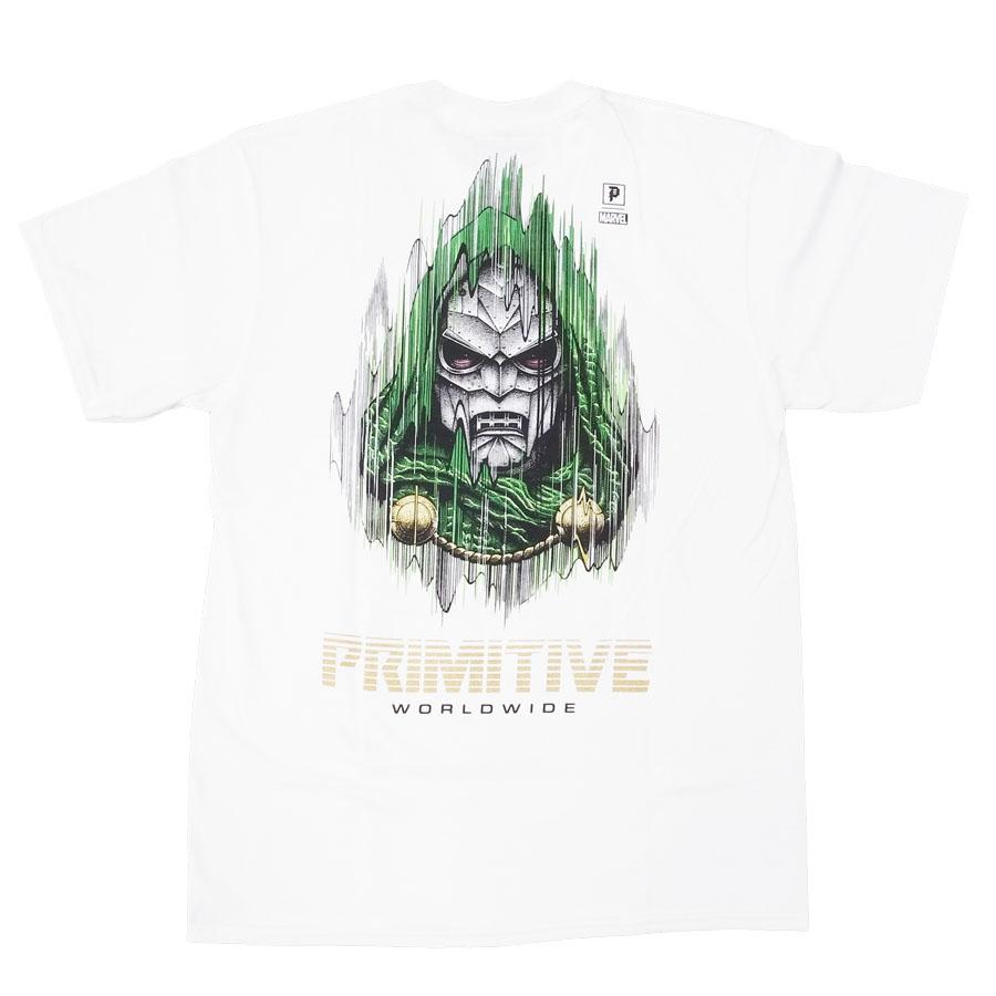 PRIMITIVE プリミティブ ドゥーム MARVEL マーベルコミック PJ DOOM S/S TEE 半袖Tシャツ カットソー ホワイト 白