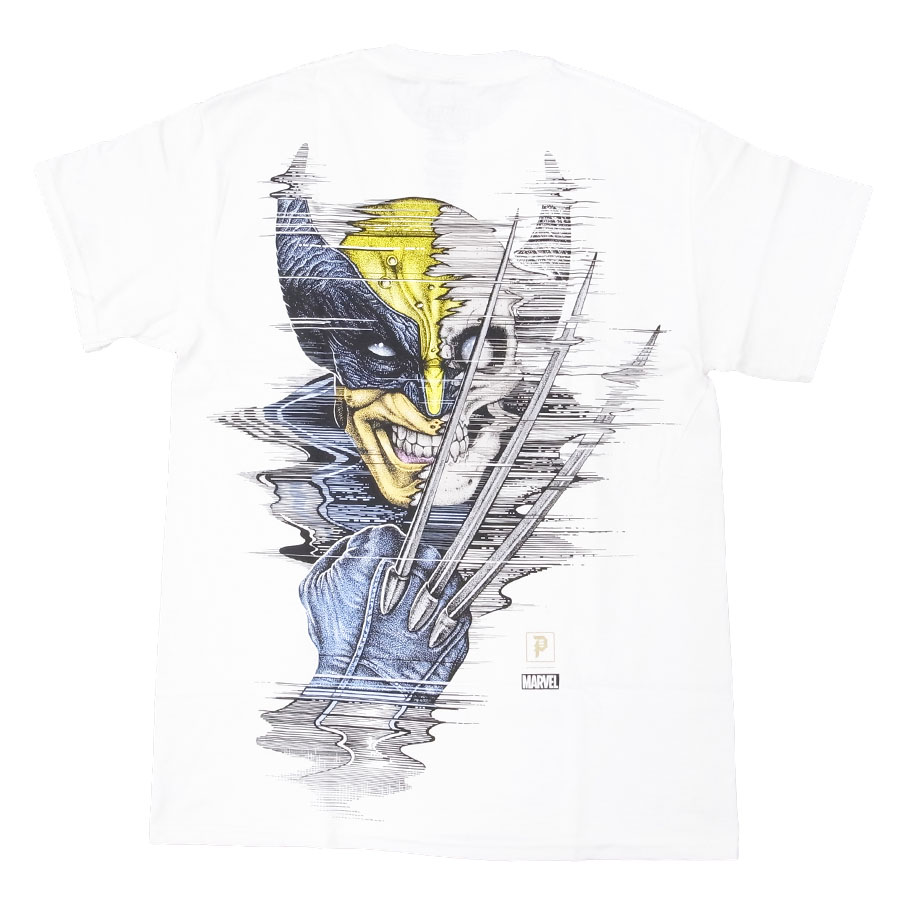PRIMITIVE プリミティブ ウルヴァリン MARVEL マーベルコミック PJ WOLVERINE S/S TEE 半袖Tシャツ カットソー ホワイト 白