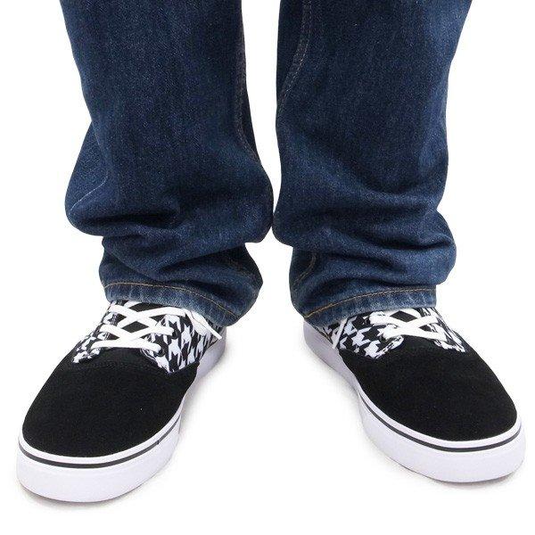 DC SHOE シューズ スニーカー スケート 靴 FLASH 2 TX SP W BLACK GEO ブラック 黒 チェック柄
