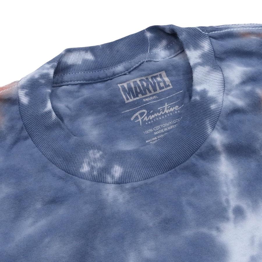 PRIMITIVE プリミティブ ベノム MARVEL マーベルコミック PJ VENOM WASHED S/S TEE 半袖Tシャツ カットソー タイダイ ブラック ブルー タイダイ