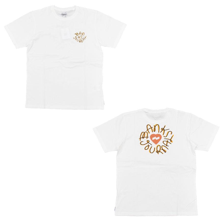 BANKS バンクス メンズ レディース ユニセックス 半袖Tシャツ カットソー オーガニックコットン HEARTSTAMP TEE ブラック 黒 ホワイト 白 ブルー