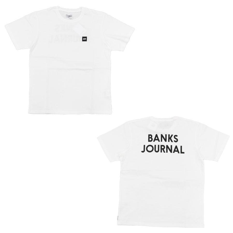 BANKS バンクス メンズ レディース ユニセックス 半袖Tシャツ カットソー オーガニックコットン JOURNAL TEE ブラック 黒 ホワイト 白 ブルー 青 イエロー 黄色 ベージュ