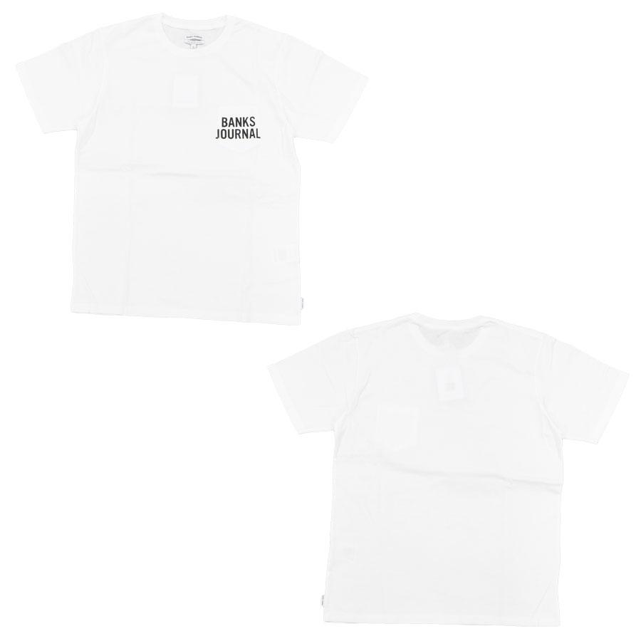 BANKS バンクス メンズ レディース ユニセックス 半袖Tシャツ カットソー オーガニックコットン SHORES TEE ブラック 黒 ホワイト 白 レッド 赤 紫 パープル