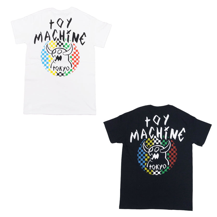 TOY MACHINE トイマシーン メンズ レディース ユニセックス Tシャツ カットソー ホワイト 白 ブラック 黒 MONSTER MARAKED TOKYO