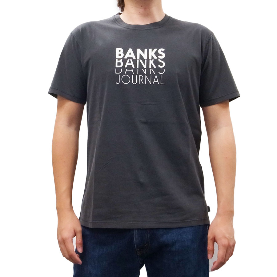 BANKS バンクス メンズ レディース ユニセックス 半袖Tシャツ カットソー オーガニックコットン REPERT TEE