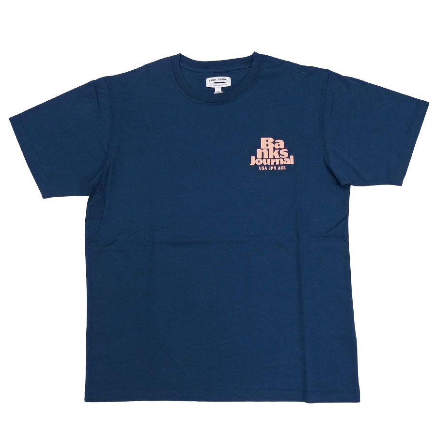 BANKS バンクス メンズ レディース ユニセックス 半袖Tシャツ カットソー オーガニックコットン HOURLY TEE
