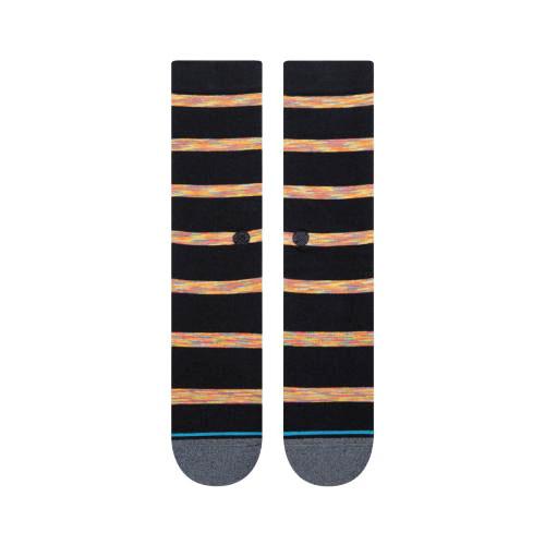 STANCE SOCKS MENS 靴下 スタンス ハイソックス メンズ スケート MR HODGES SOCKS ブラック 黒 ボーダー