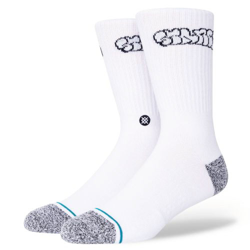 STANCE SOCKS MENS 靴下 スタンス ハイソックス メンズ スケート BRINKMAN SOCKS ホワイト 白