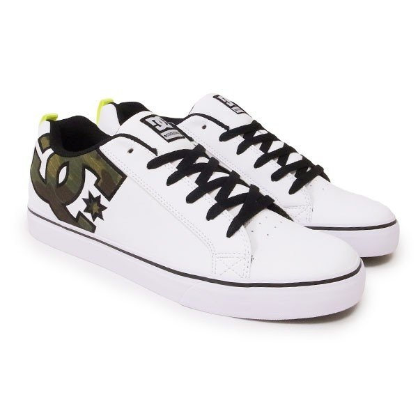 DC SHOE シューズ スニーカー スケート 靴 COURT VULC SE SN ホワイト 白