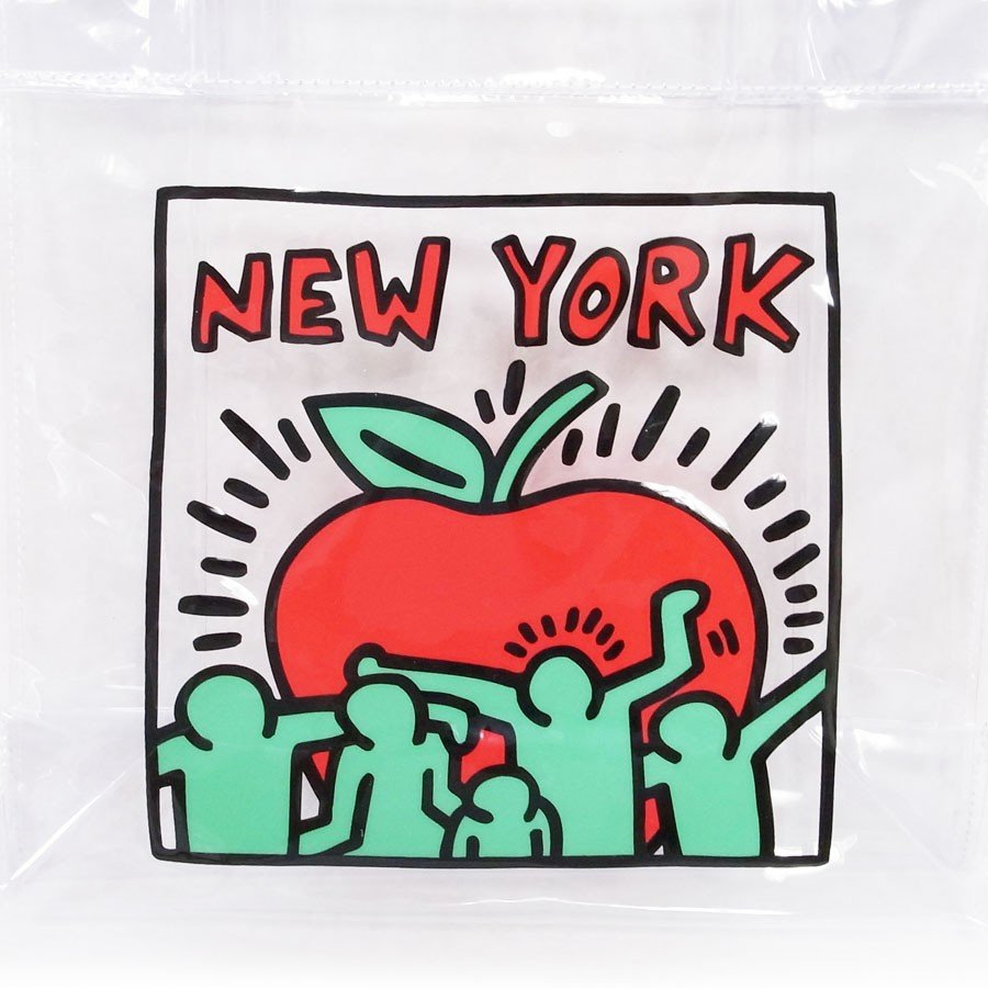 KEITH HARING キースヘリング ハンドバッグ トートバッグ クリアバッグ デイパック レディース ONE POINT CLEAR BAG 透明 クリア