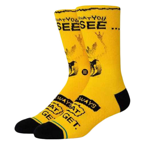 STANCE SOCKS スタンス ハイソックス 靴下 グレムリン GREMLINS WHAT YOU GET コラボ 黄色 イエロー