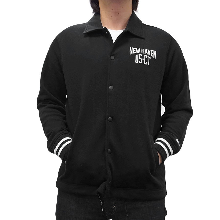 STARTER BLACK LABEL スターター ブラックレーベル NELSON RIB COACH JACKET コーチジャケット ブラック ホワイト 黒 白