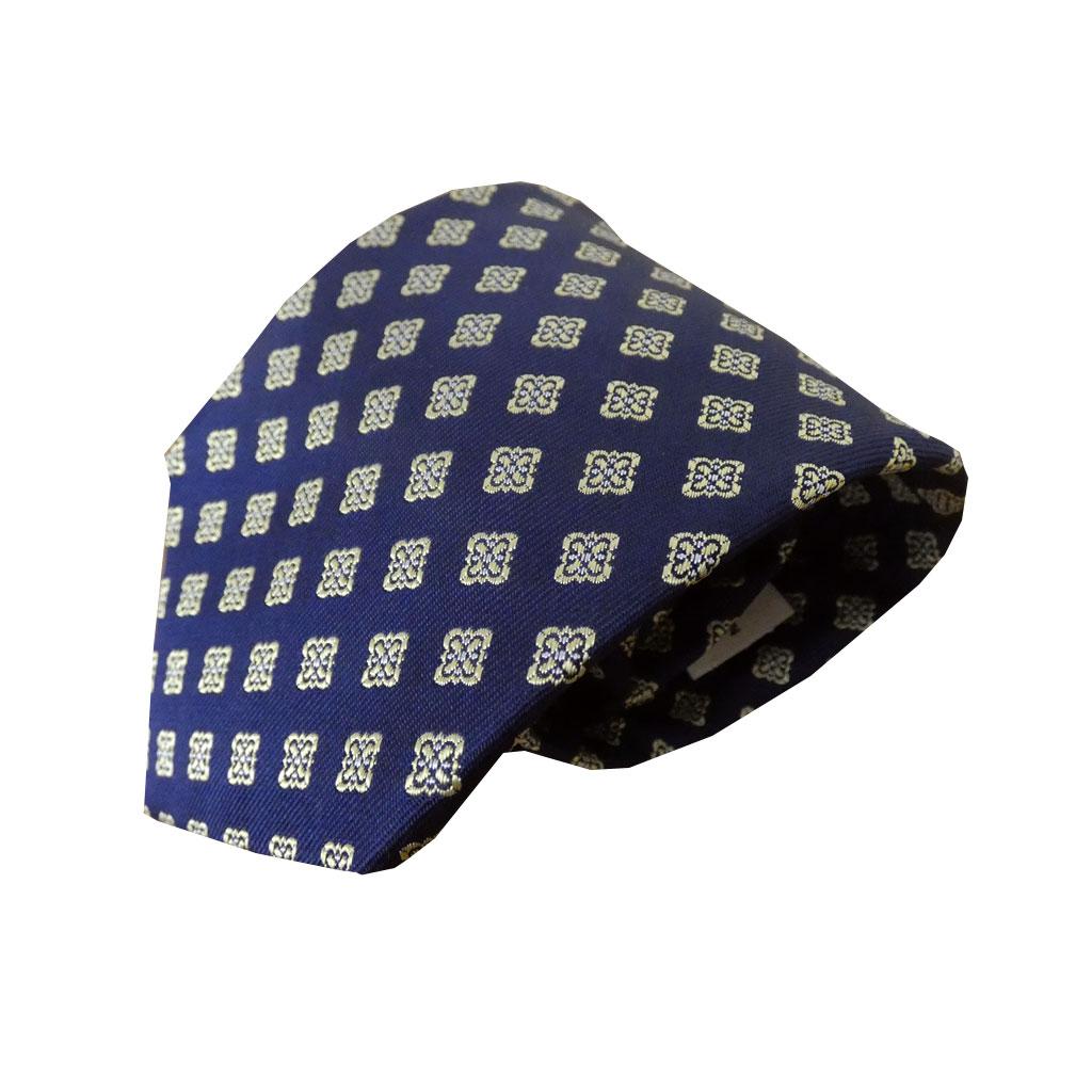 J.PRESS(ジェイプレス) ネクタイ 絹100% ネイビー 小紋 TR24