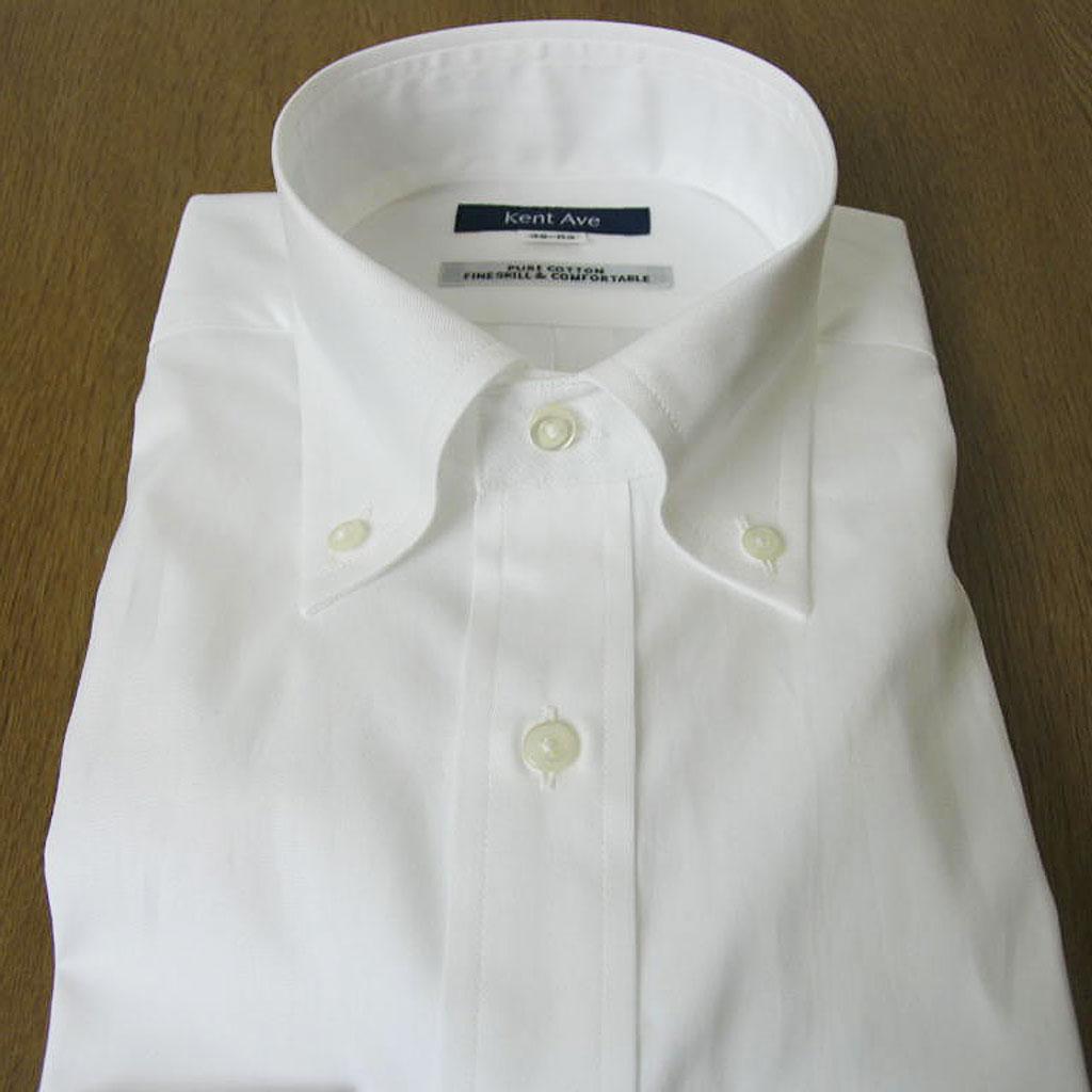 Kent Ave(ケントアベニュー) ボタンダウンシャツ メンズ 長袖 ピンオックス ホワイト 503A (衿37cm 裄丈80cm ) (衿39cm 裄丈83cm ) (衿43cm 裄丈86cm )