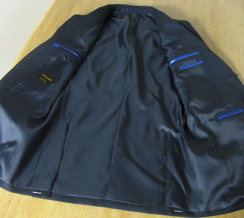 キングサイズ 秋冬春 紺ブレザー 銀ボタン 英国調 段返り3つボタン 【チェンジポケット付】【ウール100%】メンズ ジャケット OXFORD CLASSIC 0188 E4 E5 E6 E7 E8