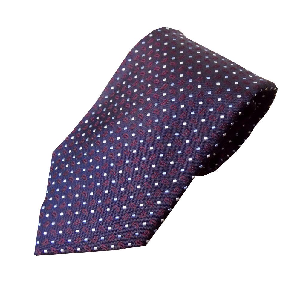 J.PRESS(ジェイプレス) ネクタイ 絹100% パープル系 ペイズリー TR25