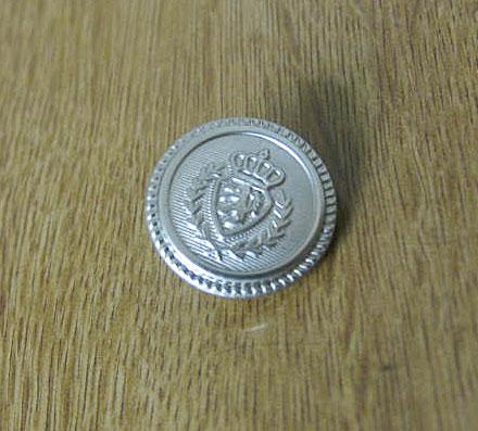 ブレザー・ジャケット用替え銀ボタン メンズ 大=直径2cm メール便のみ送料無料