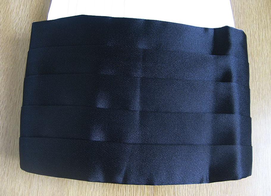 お取り寄せ商品 タキシード用のカマーバンド 黒 S M L  YM02