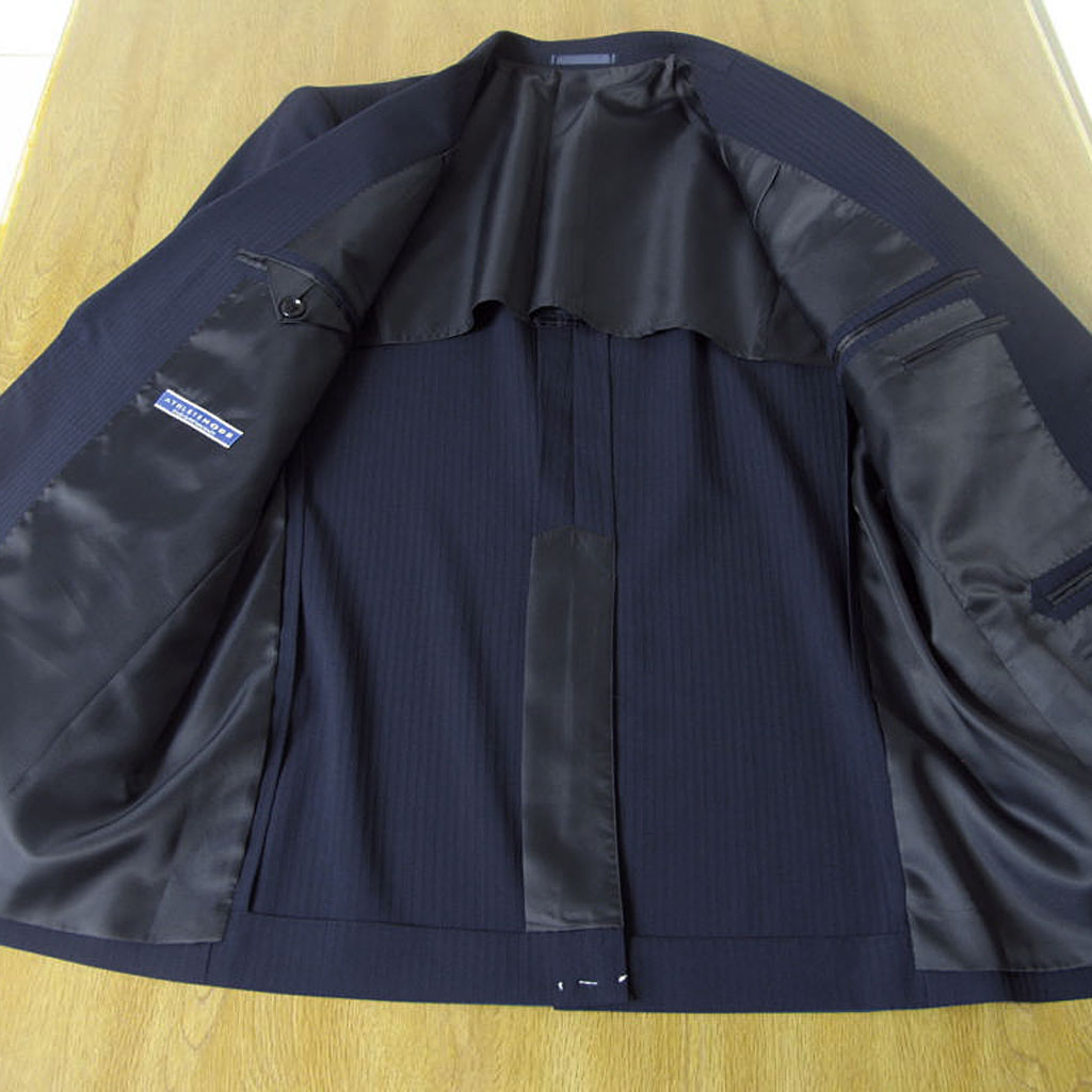 アスリートモデル春夏2つボタンスーツ 紺 シャドーストライプ 0488 AB6 BB5 BB6 BB7