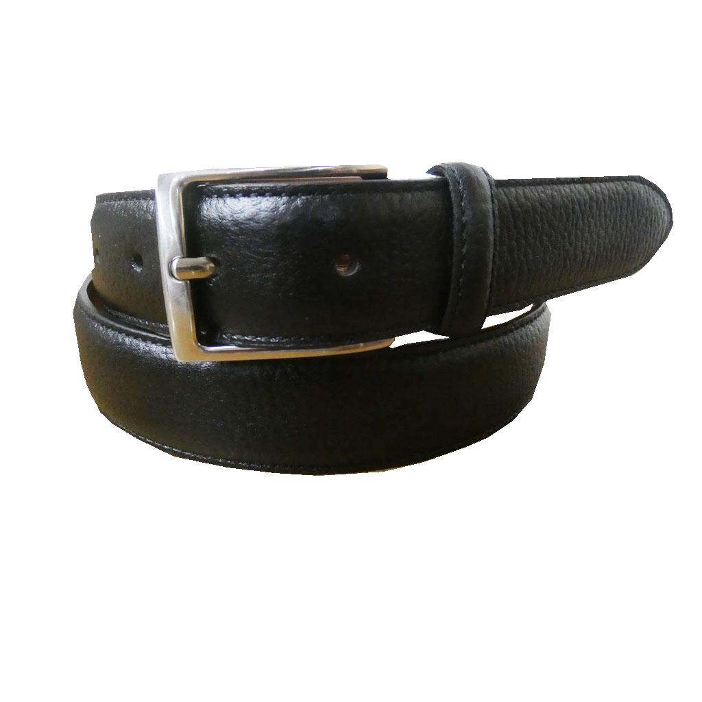 KIETHの日本製 牛革ベルト 2119 ブラック 型押し 36インチ