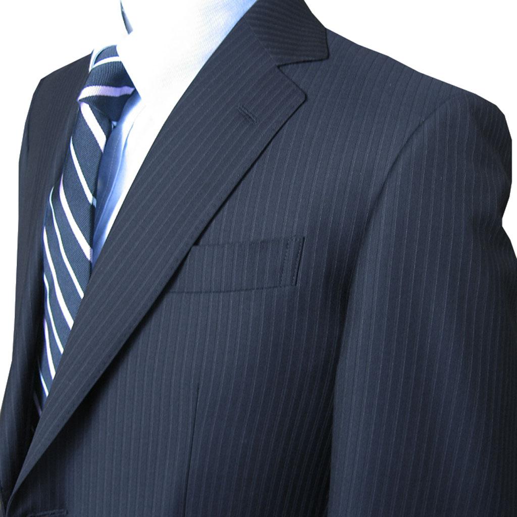 Ermenegildo Zegna(エルメネジルド ゼニア) スーツ メンズ 春夏 2つボタン ネイビースーツ ストライプ 紺 5388 BB4 BB5 BB6