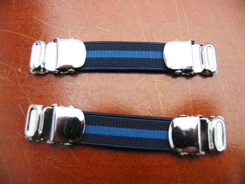 アームガーター 紺×青 ストライプ A12