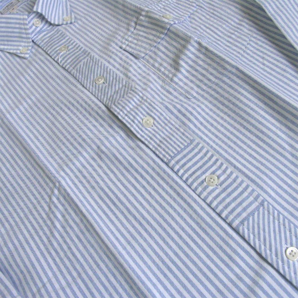 J.PRESS(ジェイプレス)  ボタンダウンシャツ メンズ長袖シャツ カジュアルシャツ ブルー ストライプ 5173 M
