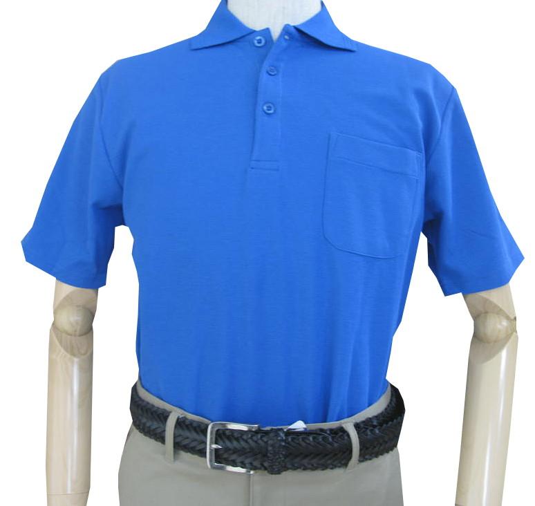 COWBELLMATEの半袖 鹿の子織り ポロシャツ ブルー 6003 S M L LL 4L