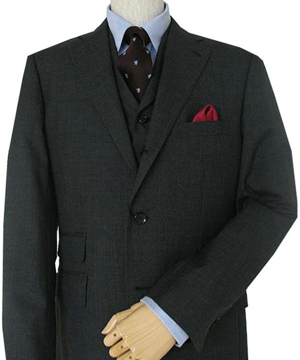 THEO DORE(セオドール) 3ピーススーツ メンズ 春夏 チャコールグレー グレンチェック 6918 A3 A5 A7 AB3 AB4 BB4 BB6