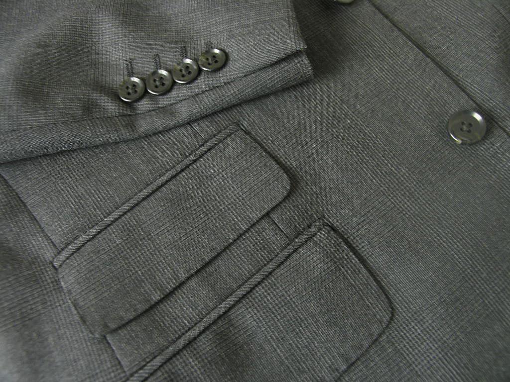 THEO DORE(セオドール) 3ピーススーツ メンズ 春夏 チャコールグレー グレンチェック 6918 A3 A5 A7 AB3 AB4 BB6