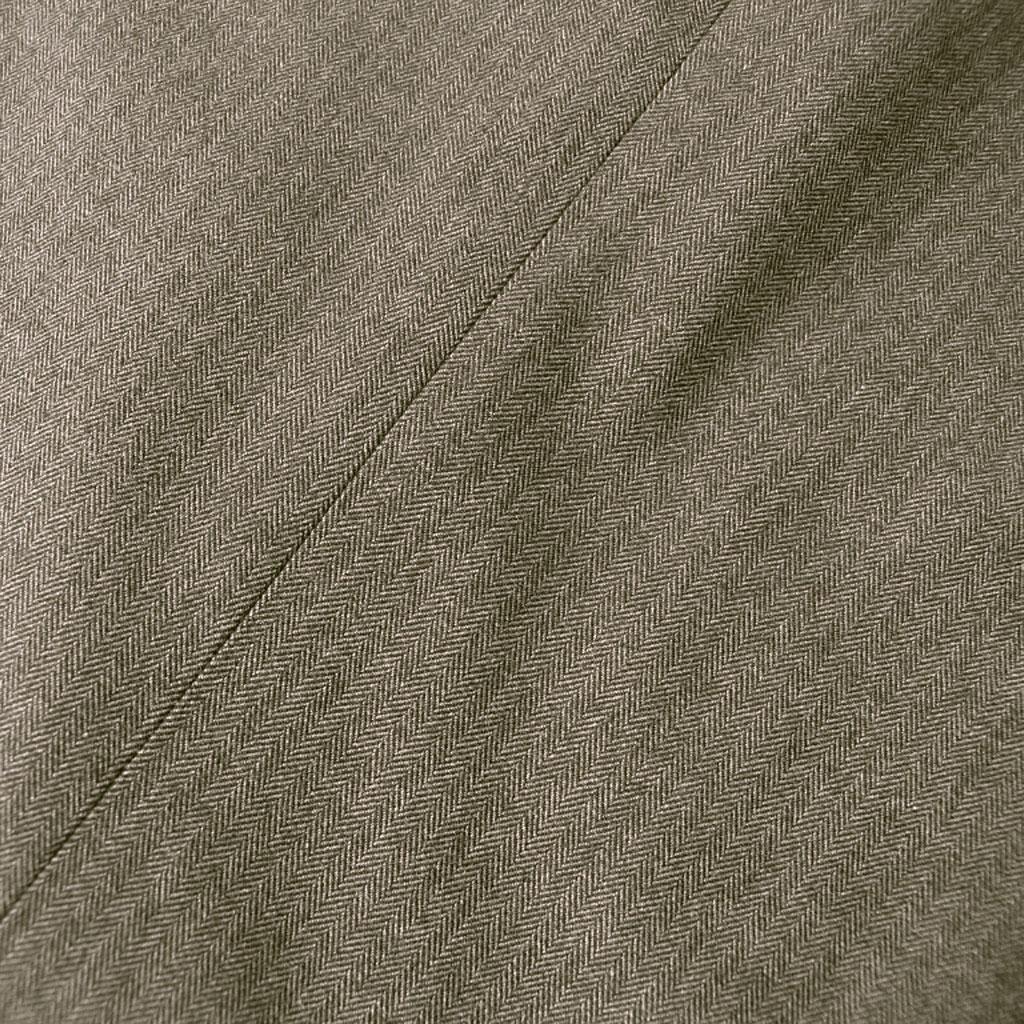 HAI-VASERON 秋冬春 コットンパンツ ブラウン ヘリンボーン ノータック 【ストレッチ】 0133  76cm 79cm 82cm 85cm 88cm 91cm 94cm