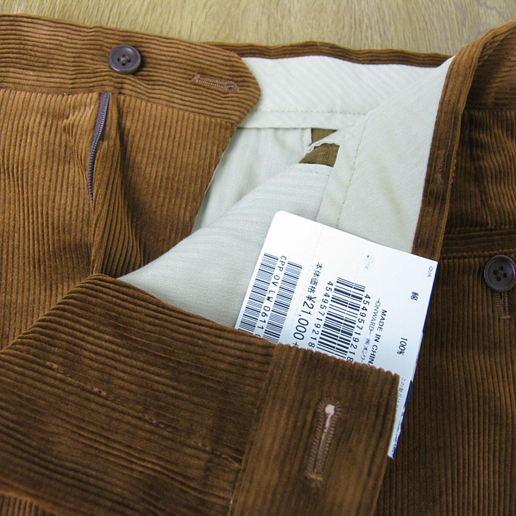 J.PRESSの秋冬 ノータックパンツ ブラウン コーデュロイ 035 78cm 82cm 86cm
