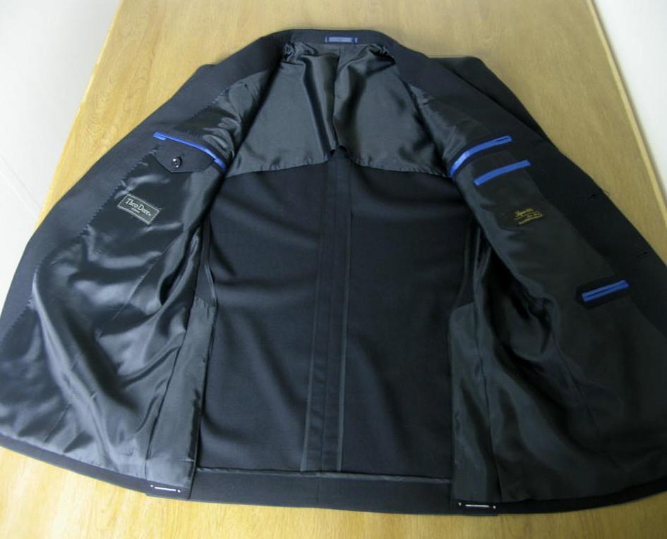 TheoDore(セオドール) 3ピーススーツ ネイビースーツ メンズ 春夏秋 英国調 ウール100% 段返り三つボタン 濃紺無地 5488 A3 A4 A5 A6 A7 A8 AB3 AB4 AB5 AB8 BB3 BB4 BB7 BB8