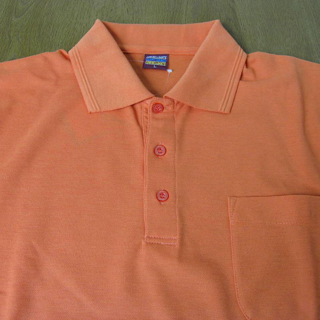 COWBELLMATE ポロシャツ メンズ 春夏 半袖 鹿の子織り オレンジ  6005 L LL 3L