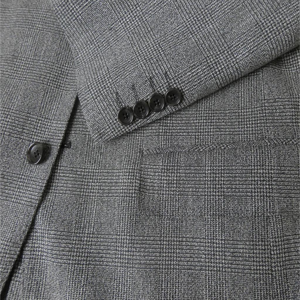 【お取り寄せ】 Dady Costa(ダディコスタ) 2つボタンジャケット メンズ 春夏秋 グレンチェック チャコールグレー 0023 AB4 AB5 AB6 BB4 BB5 BB6 BB7