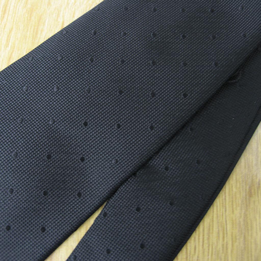 NEW FORMAL礼装用ネクタイ 黒 シルク100% FB05