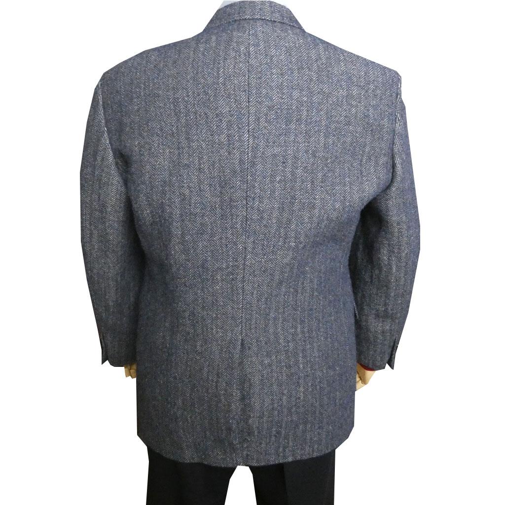 grado collection(グラードコレクション) ツイードジャケット メンズ 秋冬 ヘリンボーン ブルー系 MIX 5085 A3 A4 A5 A6 A7 A8 AB3 AB4 AB5 AB6 AB8 BB4 BB5 BB6 BB7