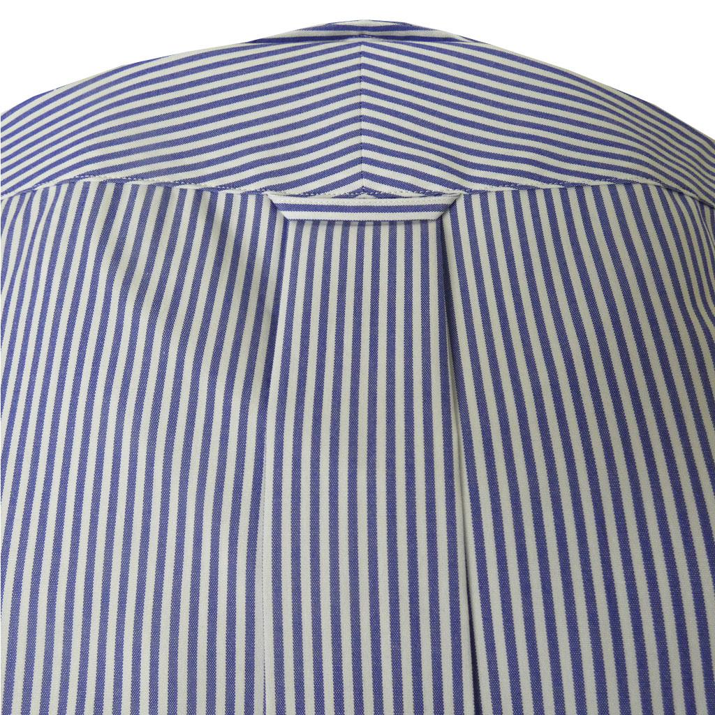 【形態安定】J.PRESS(ジェイプレス) ボタンダウンシャツ メンズ 長袖ワイシャツ ピンオックス ブルー ストライプ 175 (衿37cm-裄丈82cm)