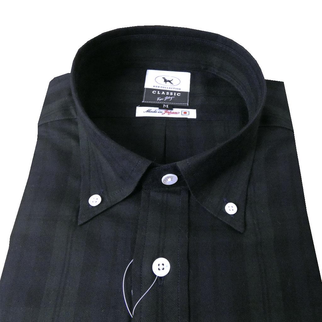 KEN COLLECTION CLASSIC 長袖ボタンダウンシャツ ブラックウォッチ 0399 M L