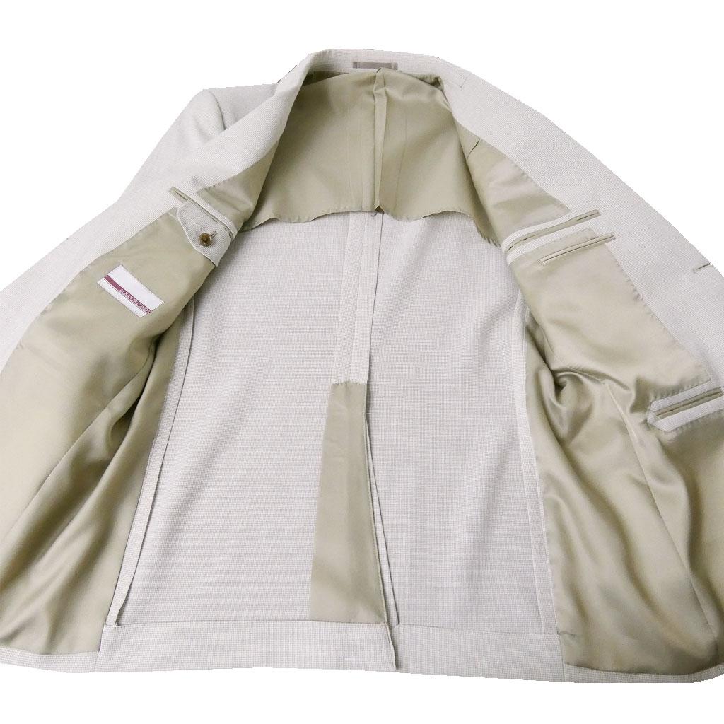 お取り寄せ ALBANTE UOMOの春夏2つボタン 麻混ジャケット  ベージュ系 0352  AB4 AB5 AB6 AB7 BB4 BB5 BB6 BB7