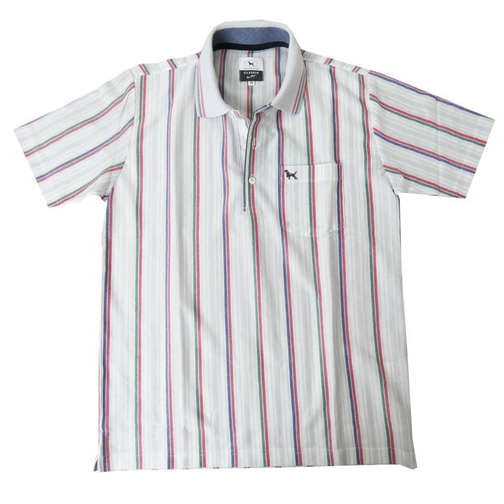 KEN COLLECTION CLASSIC(ケンコレクションクラシック) 半袖ポロシャツ メンズ マルチカラー ストライプ 0111 M