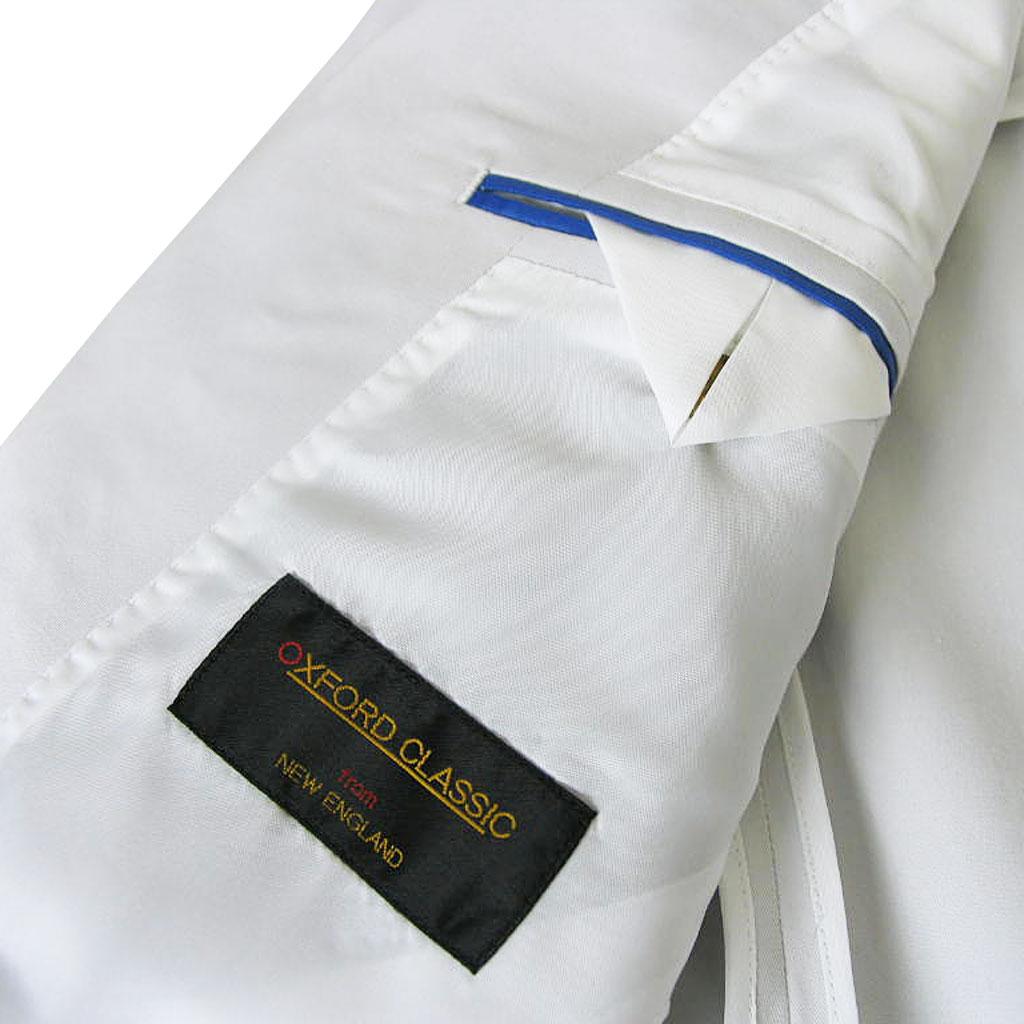 OXFORD CLASSIC(オックスフォードクラシック) コットンスーツ メンズ 春夏秋 段返り3つボタン スモークホワイト 7002 A5 A8